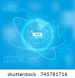 hud tech background vector....
