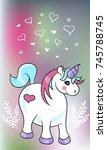 unicorn. vector illustration. | Shutterstock .eps vector #745788745