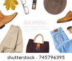 fashion set outfits | Shutterstock . vector #745796395