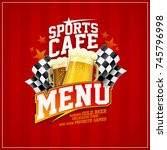 sports cafe menu card concept | Shutterstock .eps vector #745796998