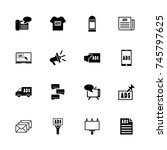 advertisement icons   expand to ...   Shutterstock .eps vector #745797625