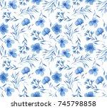 seamless pattern of watercolor...   Shutterstock . vector #745798858