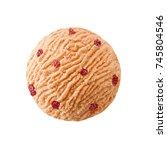 Grapefruit Ice Cream Scoop Wit...