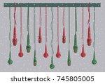microphones vector set in a...   Shutterstock .eps vector #745805005