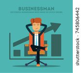 successful businessman rests... | Shutterstock .eps vector #745806442