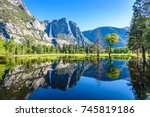 yosemite national park  ... | Shutterstock . vector #745819186