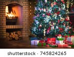 Christmas Home Interior With...