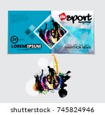 brochure layout | Shutterstock .eps vector #745824946