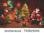 Santa Claus And Little Elves...