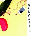 minimalist fashion photo. top... | Shutterstock . vector #745826332