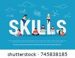 skills development concept... | Shutterstock . vector #745838185