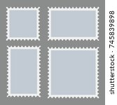 blank postage stamps template... | Shutterstock .eps vector #745839898