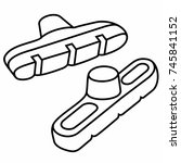 bicycle brake pads v brake   Shutterstock .eps vector #745841152