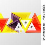 color triangles background ... | Shutterstock .eps vector #745845586