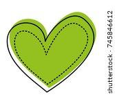 heart love romance passion dots ... | Shutterstock .eps vector #745846612