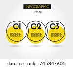 triple yellow infographic ring  ...   Shutterstock .eps vector #745847605