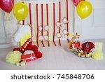 birthday decor   Shutterstock . vector #745848706