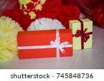 birthday decor   Shutterstock . vector #745848736