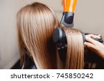 close up of hair dryer  concept ...   Shutterstock . vector #745850242
