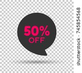 special 50  off red tag. this... | Shutterstock .eps vector #745854568