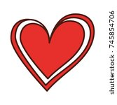 hearts icon symbol of love on... | Shutterstock .eps vector #745854706