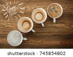 coffee time. drinking coffee ...   Shutterstock . vector #745854802