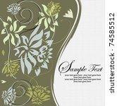 flower background   Shutterstock .eps vector #74585512