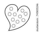 heart love romance passion dots ... | Shutterstock .eps vector #745855246