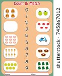 match the numbers to the... | Shutterstock .eps vector #745867012
