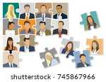 jigsaw puzzle shown as a... | Shutterstock .eps vector #745867966