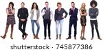 group of ordinary people | Shutterstock . vector #745877386