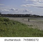 view of troon from brassie shore | Shutterstock . vector #745880272