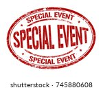 special event grunge rubber... | Shutterstock .eps vector #745880608