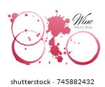 red wine stains and blots from... | Shutterstock .eps vector #745882432