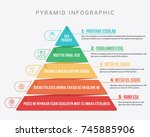 colorful hierarchy pyramid info ... | Shutterstock .eps vector #745885906