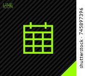 calendar line vector icon