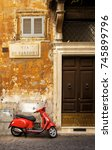 rome italy   july 17 2017   old ... | Shutterstock . vector #745899796