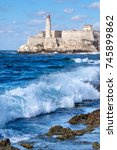el morro lighthouse and...   Shutterstock . vector #745899862