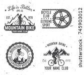 set of mountain bikings clubs.... | Shutterstock .eps vector #745903012