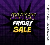 black friday sale tag. colorful ... | Shutterstock .eps vector #745906312
