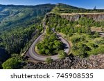 The Rowena Loops section of the old Columbia Gorge Scenic Highway, Oregon.