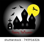 vector illustration of happy... | Shutterstock .eps vector #745916326