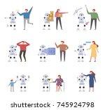 an artificial intelligence... | Shutterstock .eps vector #745924798
