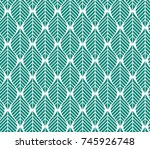 vector illustration of leaves... | Shutterstock .eps vector #745926748