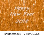 happy new year 2018 greeting on ...   Shutterstock . vector #745930666