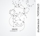 vector points connecting...   Shutterstock .eps vector #745933615