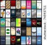 variety of 40 vertical business ... | Shutterstock .eps vector #74593711