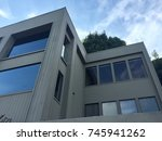 two stories modern house with... | Shutterstock . vector #745941262