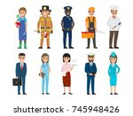 policeman and lifesaver ... | Shutterstock .eps vector #745948426