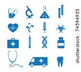 vector illustration of icons on ... | Shutterstock .eps vector #74594935